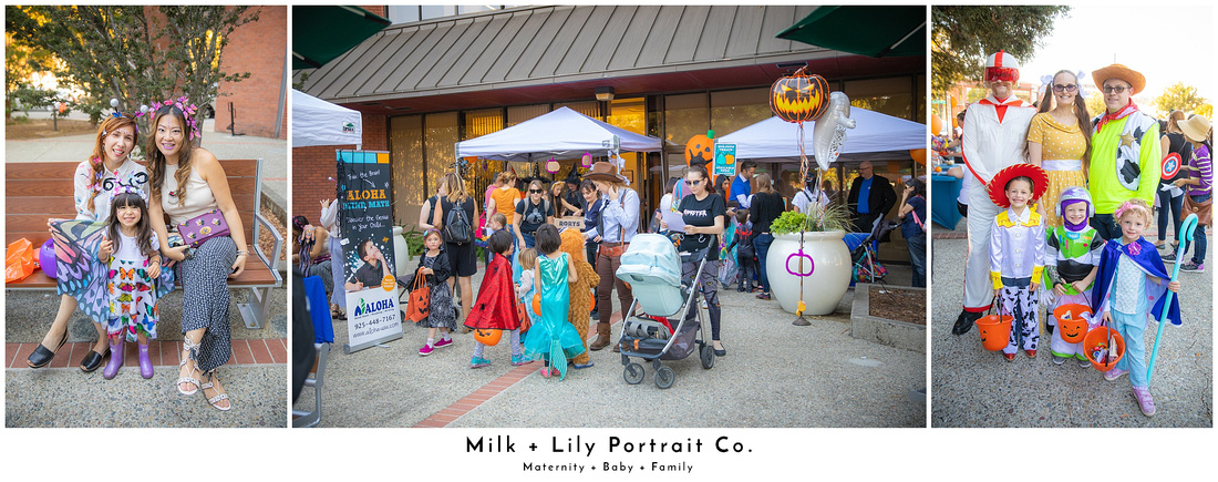 Milk and Lily Portrait Co. Downtown Walnut Creek Halloween Trick or Treat Photos