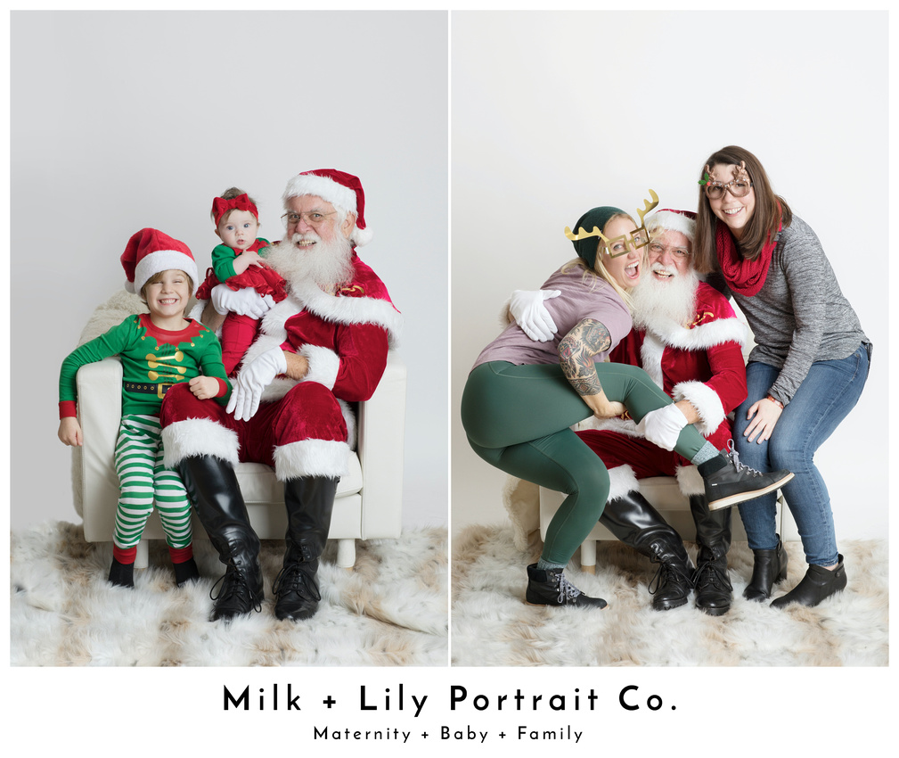 Christmas Holiday portraits at Milk and Lily Portrait Co. in Walnut Creek, California