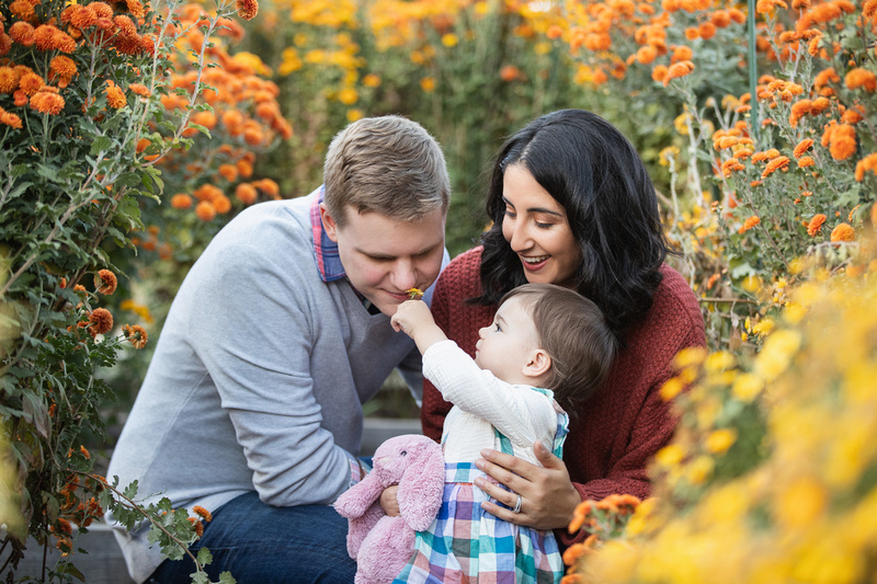 Bay Area Outdoor Family Photography in the flower garden